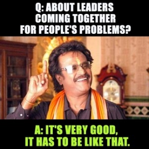 Challenging questions by Reporters & Fiery one-line answers by Rajinikanth!