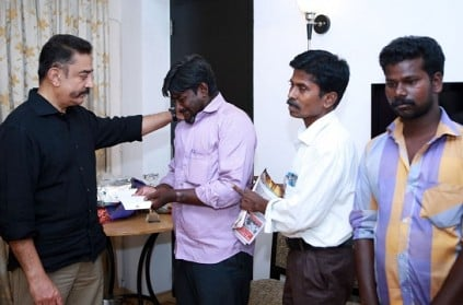 Kamal Haasan hands over financial relief to Usha's family