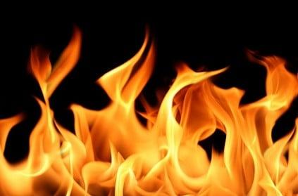 Shocking - Madurai branch of popular bank catches fire