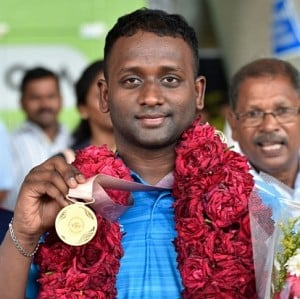 CWG gold medallist Sathish given rousing welcome by fans