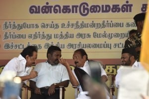 DMK and other opposition parties protest against dilution of the SC/ST